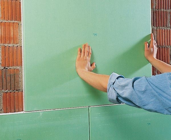 отделки стен гипсокартоном без каркаса
