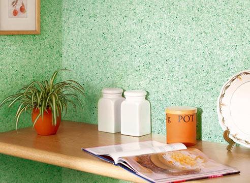 Окрашивание стен флоковыми красками