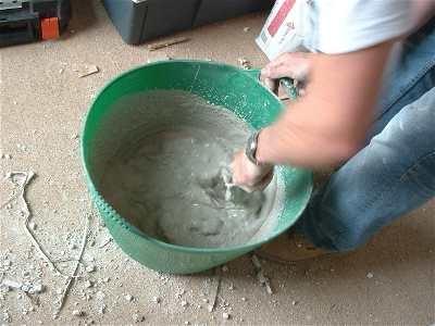 приготовление клея для гипсокартона