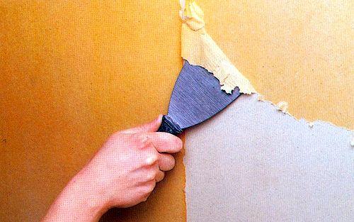 Очистка стен под пробковое покрытие