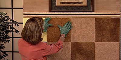 Монтаж пробкового покрытия на стены