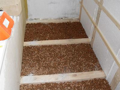 Утепление бетонного пола керамзитом