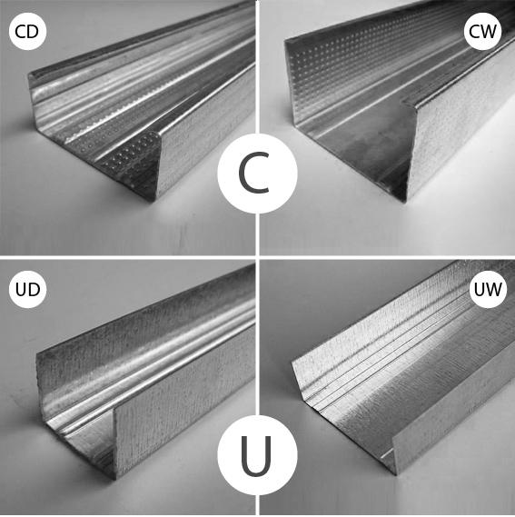 металлический профиль типа UD и CD