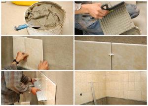 откуда начинать класть плитку на стену